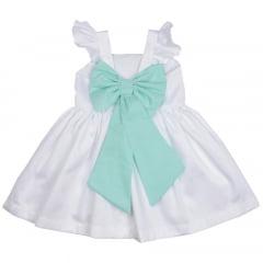 867e5518aa Vestido Infantil Branco Sofia