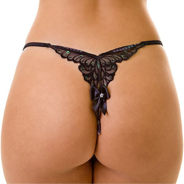 Tanga Butterfly - Tanga com bordado em formato de borboleta