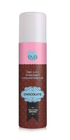 Óleo Para Massagem Comestível Aerosol Sabor Chocolate
