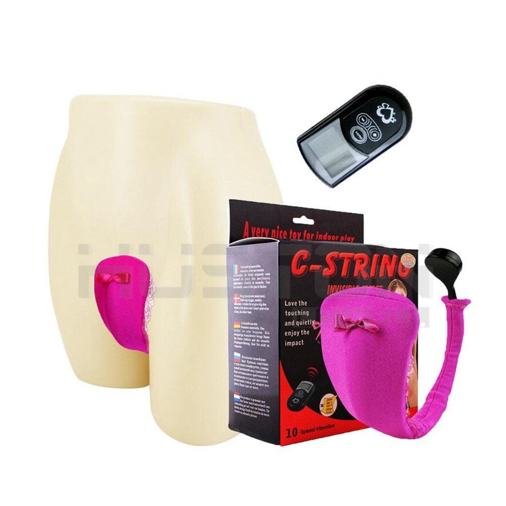 Calcinha  com Vibro 10 funções e Controle Remoto Longa Distancia - C-STRING