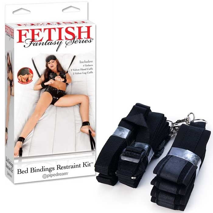 Algemas Para Cama - BED RESTRAINT BONDAGE KIT - PD215323