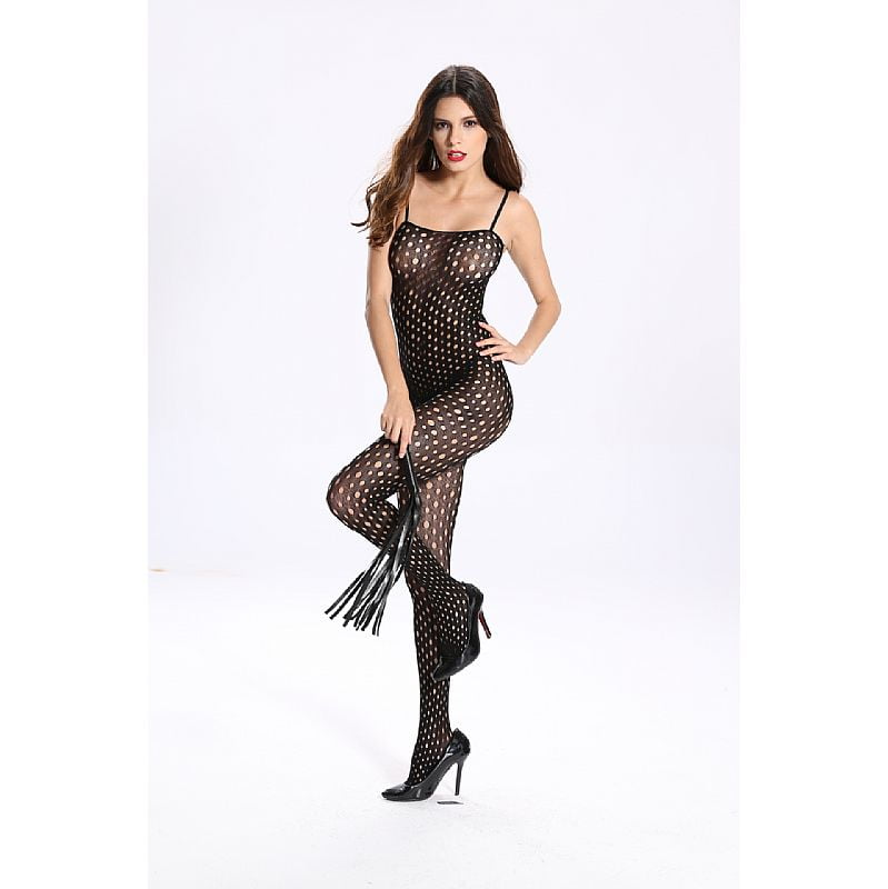 Bodystocking Macacão Rendado Vaqua 3532