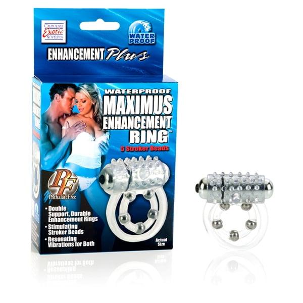 Anel Peniano Waterproof Maximus Enhancement Ring 10 Stroker Beads