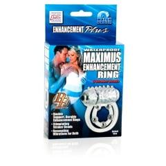 Anel Peniano com Vibro Waterproof Maximus Enhancement Ring 5 Stroker Beads