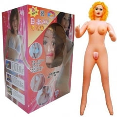 Dawanjia - Boneca Inflável com Rosto e Peito em Silicone