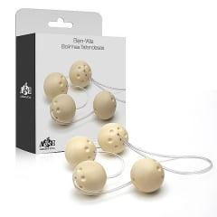 Ben-wa - Conjunto 4 Bolas Pompoar Tailandesas - Marfim