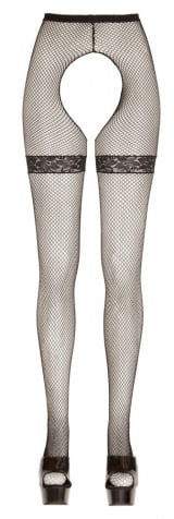 Meia Calça com Abertura e Renda - Cottelli Collection