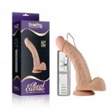 Pênis Curvado com Ventosa com 3 Vibrações, Veias e Escroto - LOVETOY REAL EXTREME