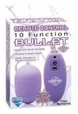 Remote Control Bullet Egg Sem Fio Com 10 Funções de Vibração Roxo