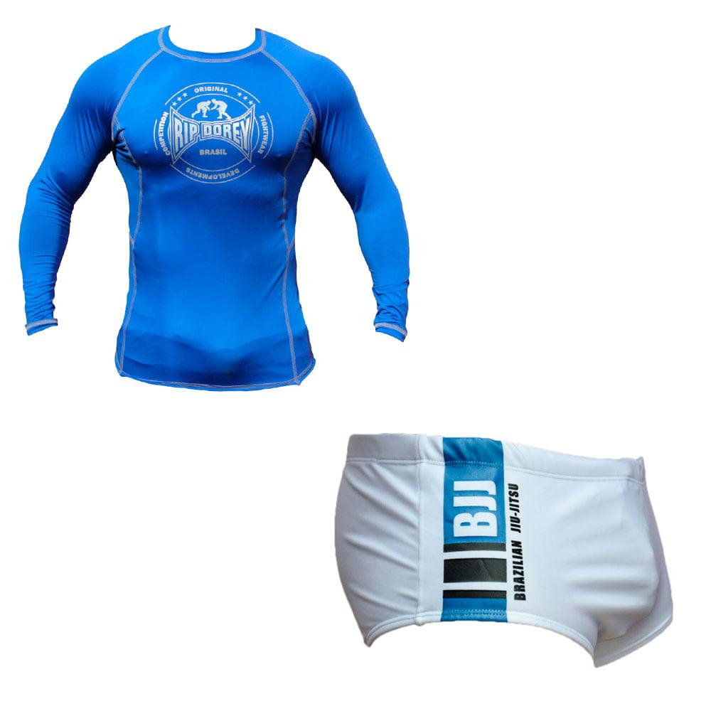 Kit Promocionalk Sunga e Rashguard Faixa Azul