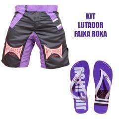 Kit Lutador Faixa Roxa