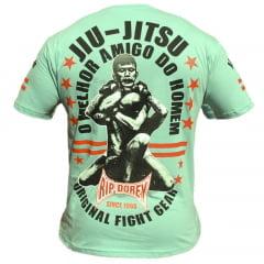 Camiseta Manga Curta Arte Suave Jiu-Jitsu Melhor Amigo do Homem