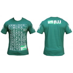 Camiseta Manga Curta BJJ Positions Verde