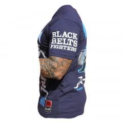 Camiseta Manga Curta Black Belts Fighters Of Jiu-Jitsu