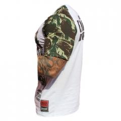 Camiseta Manga Curta Exercito de Lutadores Camuflada