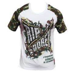 Camiseta Manga Curta Especial Camuflada Rip Dorey Exército de lutadores