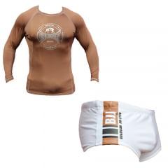 Kit Promocional Camisa de Treino + Sunga Faixa Marrom