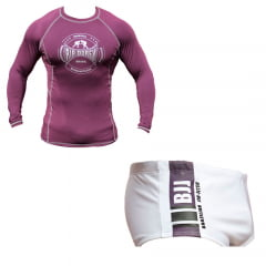 Kit Promocional Camisa de Treino + Sunga Faixa Roxa