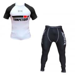 Kit Promocional Faixa Preta Camisa e Calça Compressão