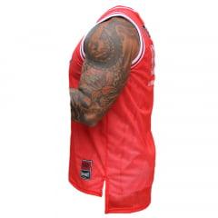 Regata Basket Furadinha Vermelha