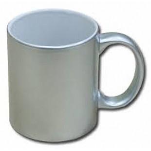 Caneca De Cerâmica Prata Metalizado - Valor Unitário