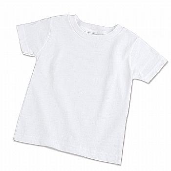 Camiseta Infantil Branca 100% Poliéster (Tamanhos a escolher 08, 10, 12, 14 e 16)