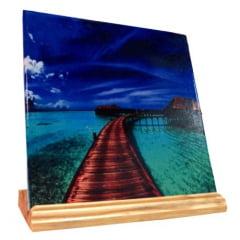 Suporte de madeira para azulejo 10X10 cm - Valor unitário