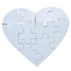 Quebra-cabeça coração 17X19 cm para sublimação - Valor unitário