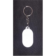 """Chaveiro de metal próprio para sublimação modelo """"Oval"""" - Valor unitário"""