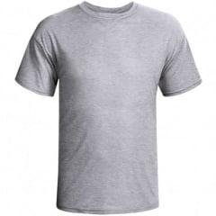 Camiseta Cinza Mescla 100% Poliéster - Valor Unitário (Tamanhos a escolher P, M, G, GG, XG)