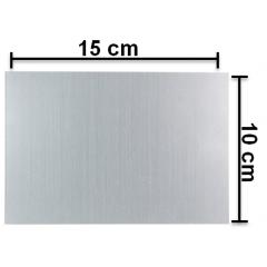 Placa (chapa) de alumínio 10X15 cm para sublimação - Valor Unitário