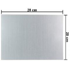 Placa (Chapa) De Alumínio 20X28 cm Para Sublimação - Valor Unitário