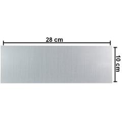 Placa (Chapa) De Alumínio 10X28 cm Para Sublimação - Valor Unitário