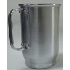 Caneca De Chopp Em Alumínio Brilhante 600 ml - Valor Unitário