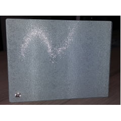 Porta Retrato de Vidro Texturizado 18X23 cm (BL16) - Valor 01 unidade
