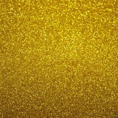 Glitter PU DOURADO 1,00X0,500 Cm - Filme de Termotransferência (Vinil Térmico)