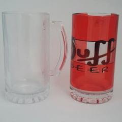 Caneca De Chopp em Vidro Transparente 500 ml - Valor Unitário