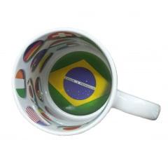 Caneca de Cerâmica branca com interior temático - Copa