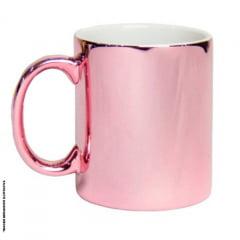 Caneca de Cerâmica Espelhada Rosa - Valor unitário
