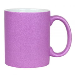 Caneca de Cerâmica Glitter Rosa  - Valor Unitário