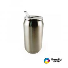 Latinha Coca-Cola Inox Prata 350 ML