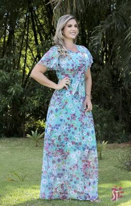 Moda Evangelica - VESTIDO LONGO EVANGÉLICO SOL DA TERRA 11235