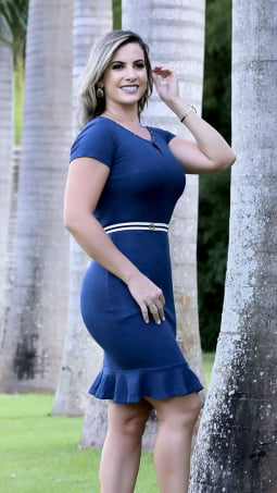 Moda Evangelica - VESTIDO MODA JOVEM TUBINHO HAPUK 59918