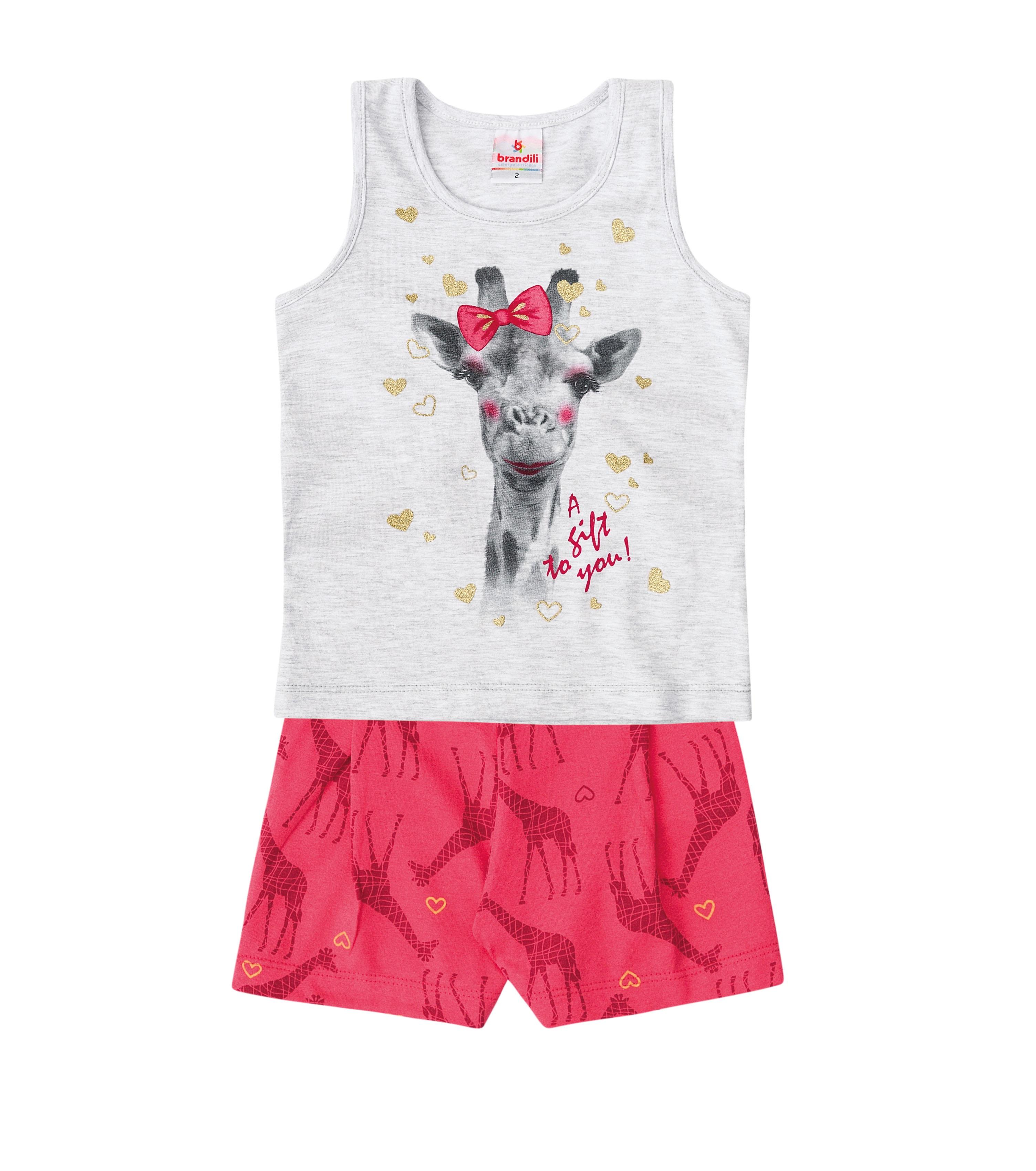 697d3f523f Conjunto 2 Pçs Girafa Menina - Brandili - Seu Stillo Kids