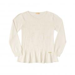 Blusão Tricot Creme - Kukiê