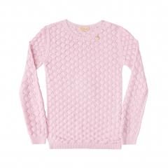 Blusão Tricot Trabalhado Rosa - Kukiê