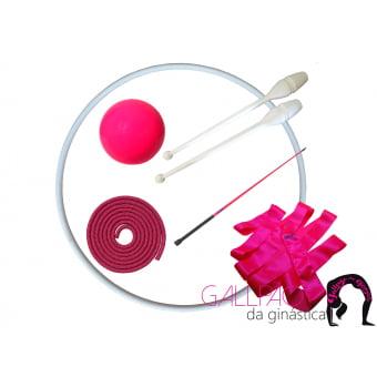 Kit Ginástica Rítmica Pink Fluorescente