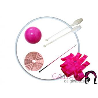 Kit Ginástica Rítmica Pink Metalizado