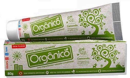 Creme Dental Contente Natural, Orgânico e Vegano 80g