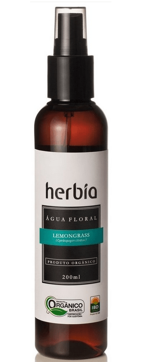 Hidrolato - Água Floral Orgânica de Lemongrass 200ml Herbia